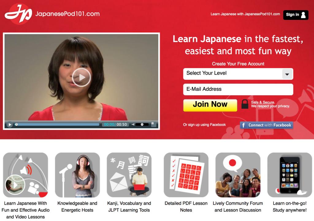 japanesepod101 site