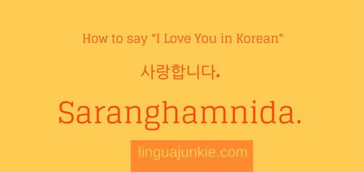 i love you korean