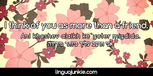 learn hebrew phrases with linguajunkie.com