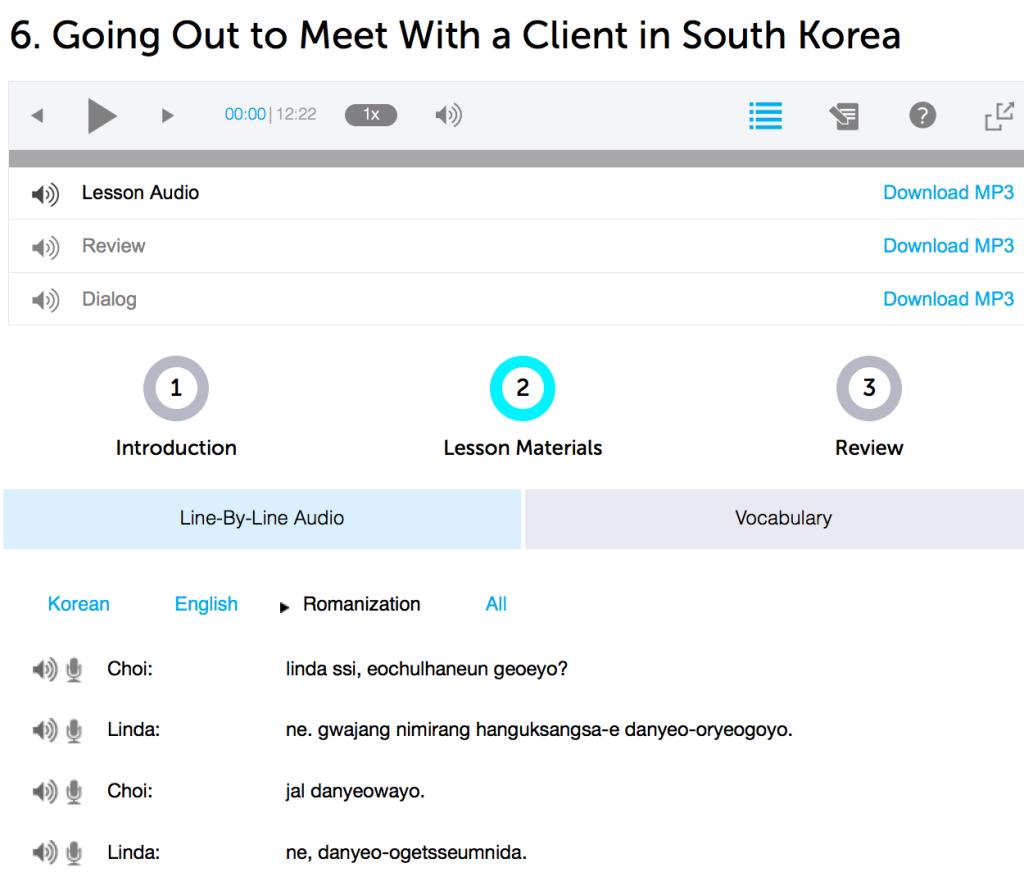 KoreanCLass101 Lesson