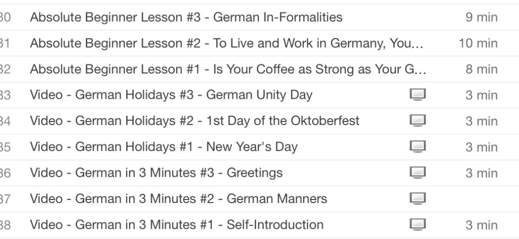 german playlist