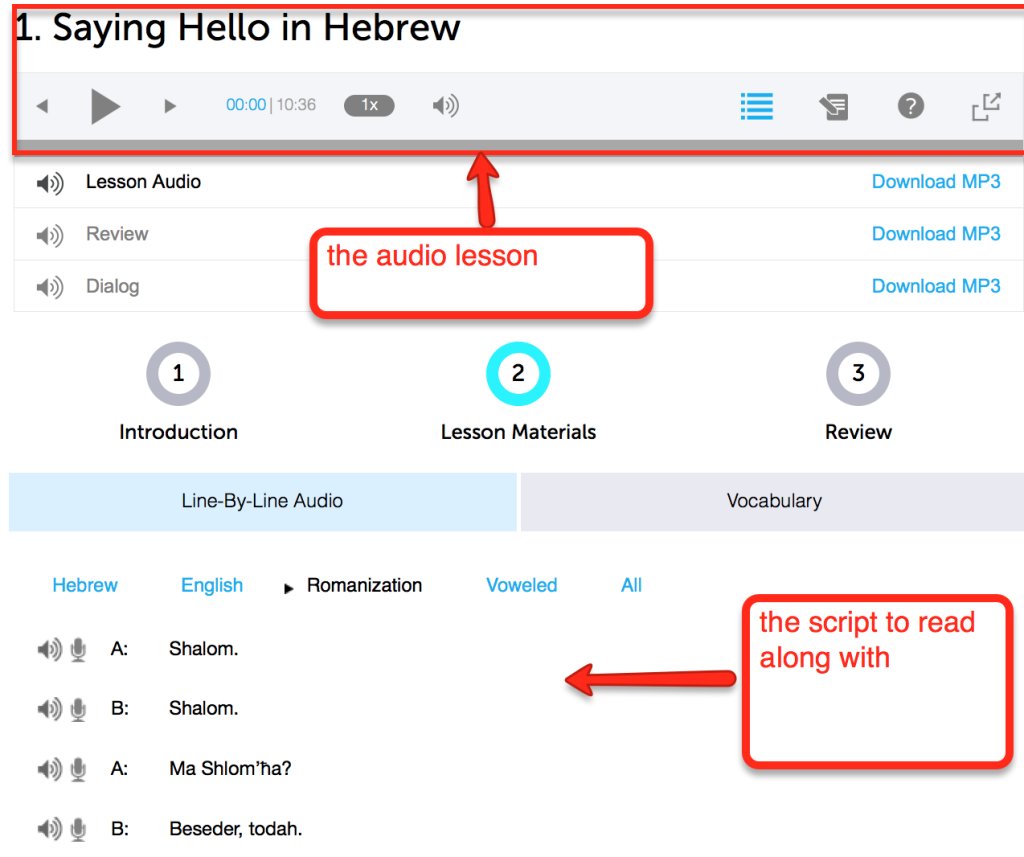 hebrew learning strategy