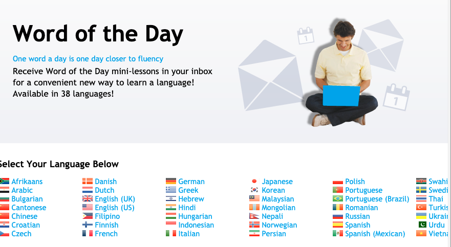 learn language fast - word of the day