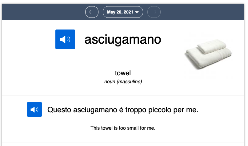 italian word of the day