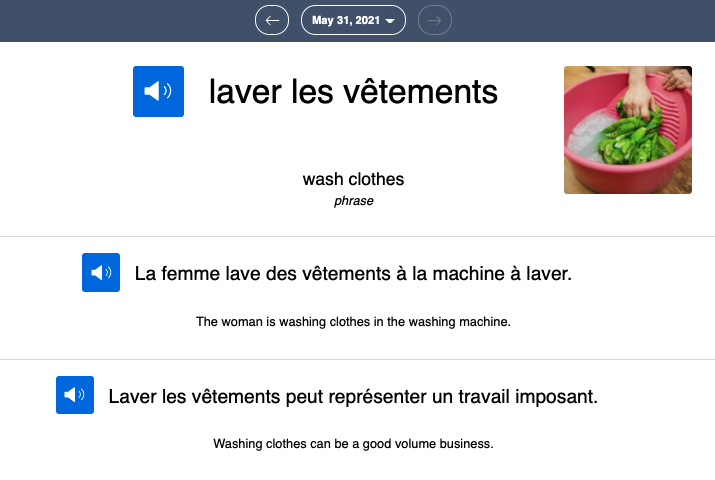 learn french in 5 minutes - word of the day