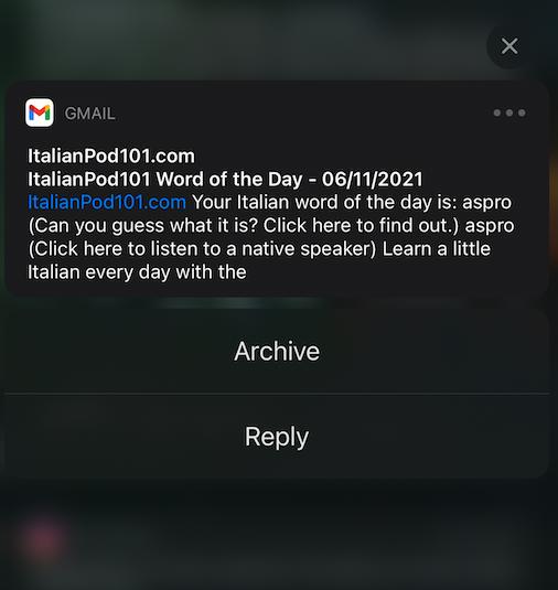 italianpod101 word of the day