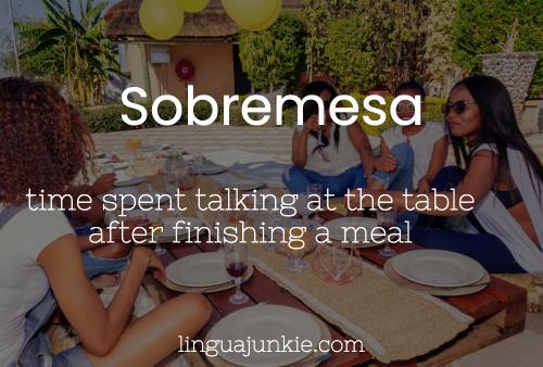 Sobremesa meaning