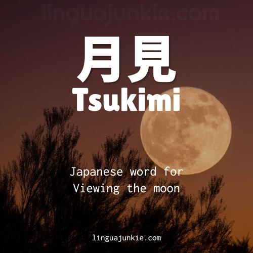 beautiful japanese words at linguajunkie.com Tsukimi