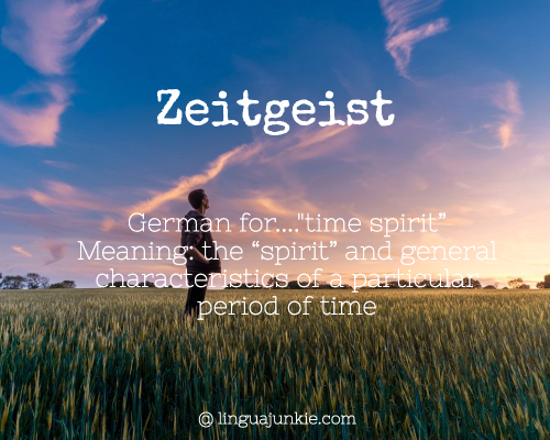 Zeitgeist meaning beautiful german words