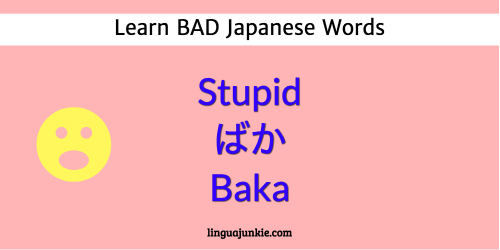 Learn Top 15 Bad Japanese Words, Curses & Insults