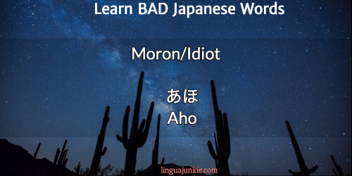bad japanese words