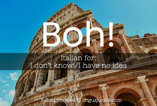 boh italian word