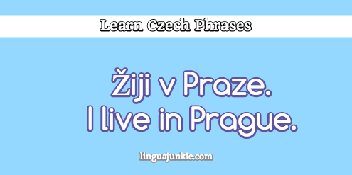 introduce yourself in czech