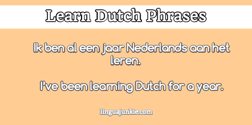 introduce yourself in dutch