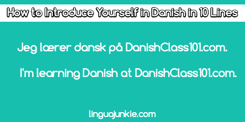 introduce yourself in Danish