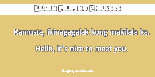 how to introduce yourself in filipino in lines introduce yourself in filipino