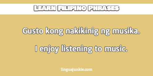 introduce yourself in filipino