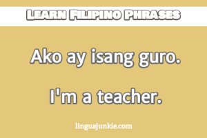 introduce yourself in filipino