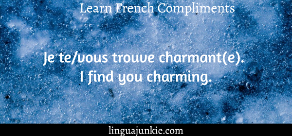 you're beautiful in French