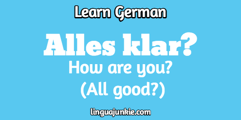 how are you in german