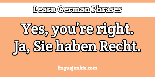 Learn German 15 Phrases To Say I Agree In German