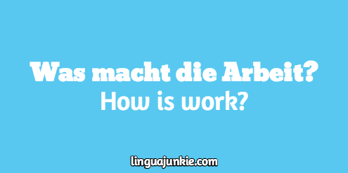 how to say answer me in german