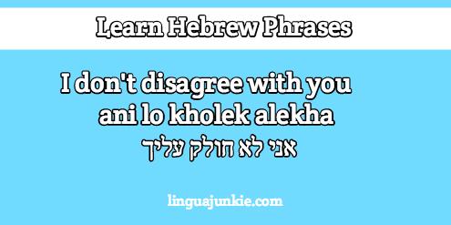 i agree in hebrew