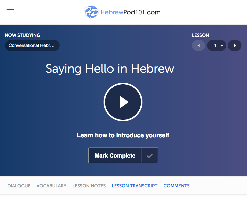 hebrew learning websites
