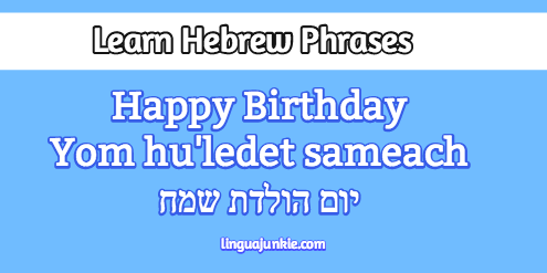 Learn Happy Birthday In Hebrew Wishes