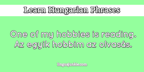 introduce yourself in hungarian