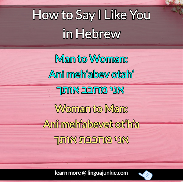 6 Ways To Say I Love You In Hebrew Lesson Audio