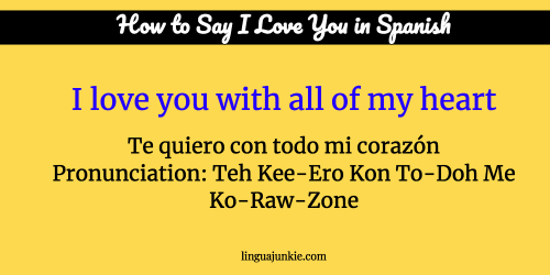 i love you in spanish