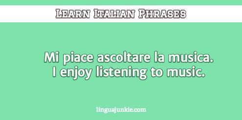 introduce yourself in Italian