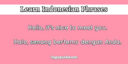 How To Introduce Yourself In Indonesian In 10 Lines