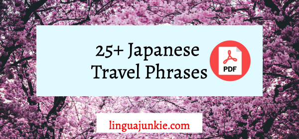 japanese travel phrases pdf