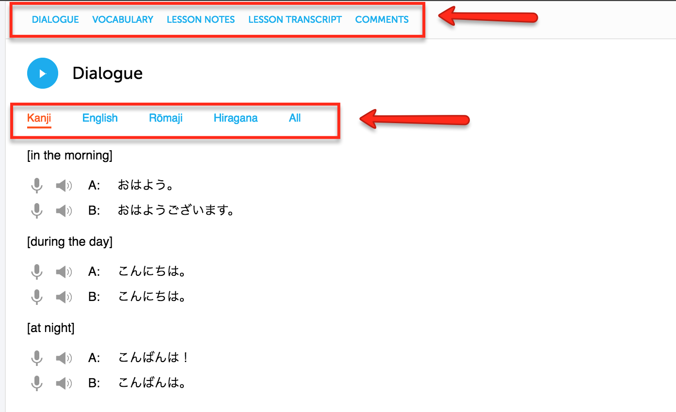 JapanesePod has 1,'s of HD Video and Audio lessons and every one includes a PDF version with a line-by-line transcript so you can read along with the lesson as it appears online. In addition to the line-by-line transcript, all lessons include in-depth instructor notes with more information, sample sentences, explanations, and translations.
