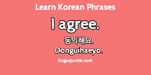 Learn Korean: 15 Phrases to Say I Agree in Korean