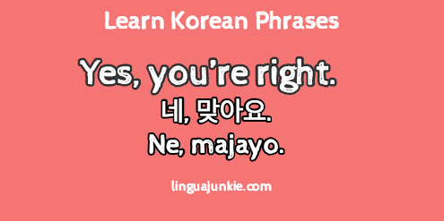 i agree in korean