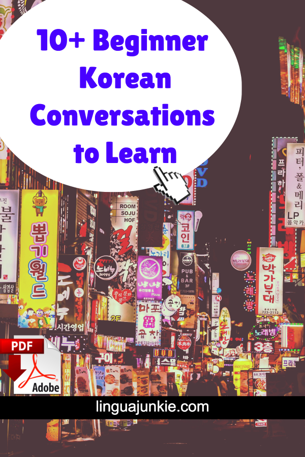 10 Korean Conversation Dialogs for Beginners
