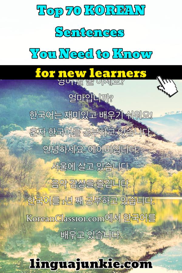 korean sentences