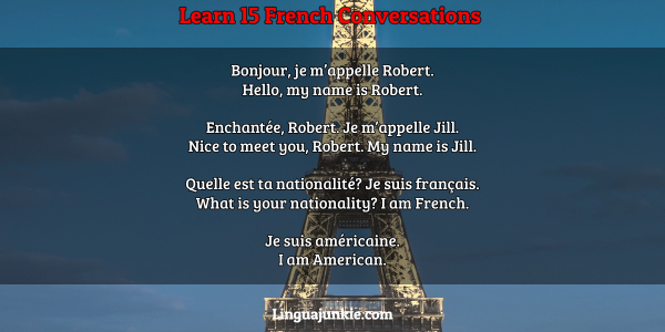 French lesson 15 introduce yourself in french basic conversation.