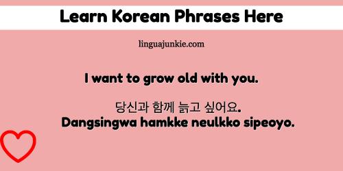marry me in korean