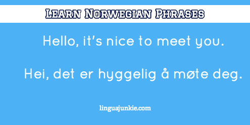 introduce yourself in Norwegian