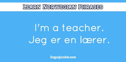 introduce yourself in Norwegian