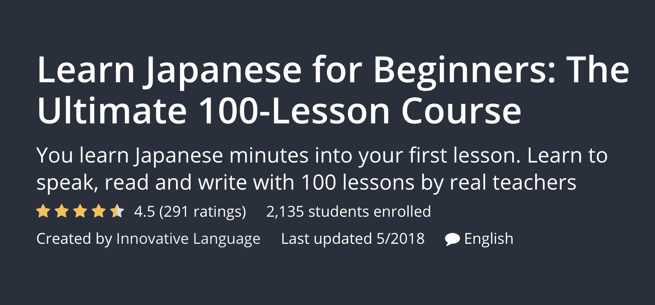 online japanese course