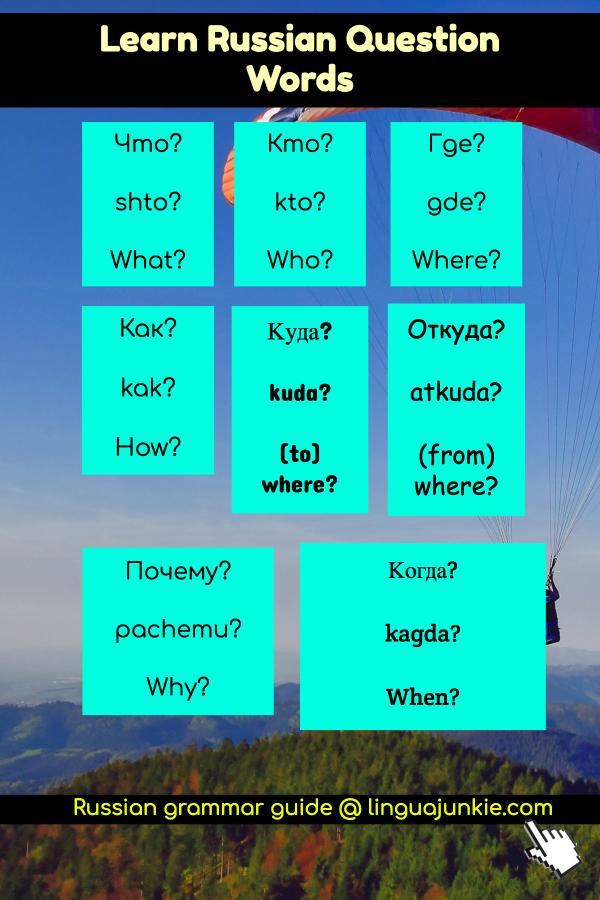 russian grammar rules