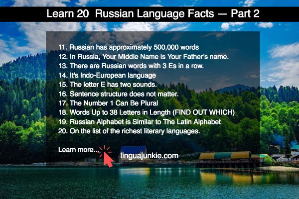 russian language facts
