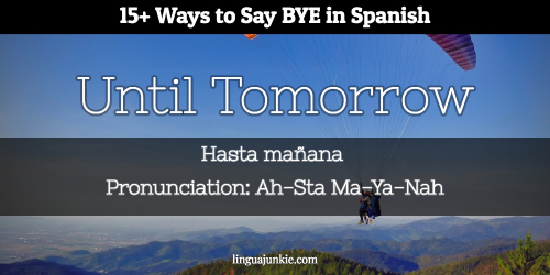 say bye in spanish