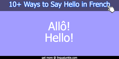 say hello in french