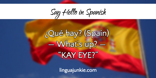 How to say hello sir in spanish